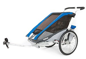 THULE Chariot Cougar 2 – Kinderfahrradanhänger (2-Sitzer in blau) für 512,99€ (statt 649,99€)