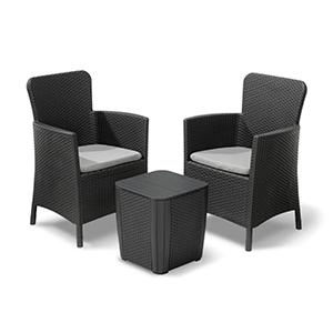 Allibert Balkonset Miami (2 Sessel + 1 Tisch) für nur 109,99€ inkl. Lieferung