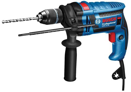 Bosch Professional Schlagbohrmaschine GSB 13 RE (600 Watt, Tiefenanschlag 210 mm, Schnellspannbohrfutter 13 mm) für nur 44,44€