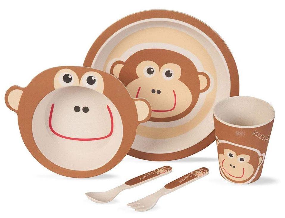 BIOZOYG Kinder Geschirr Sets aus Bambus (5 teilig) ab 12,90€ + Möglichkeit auf 10€ Amazon Guthaben für Prime Day