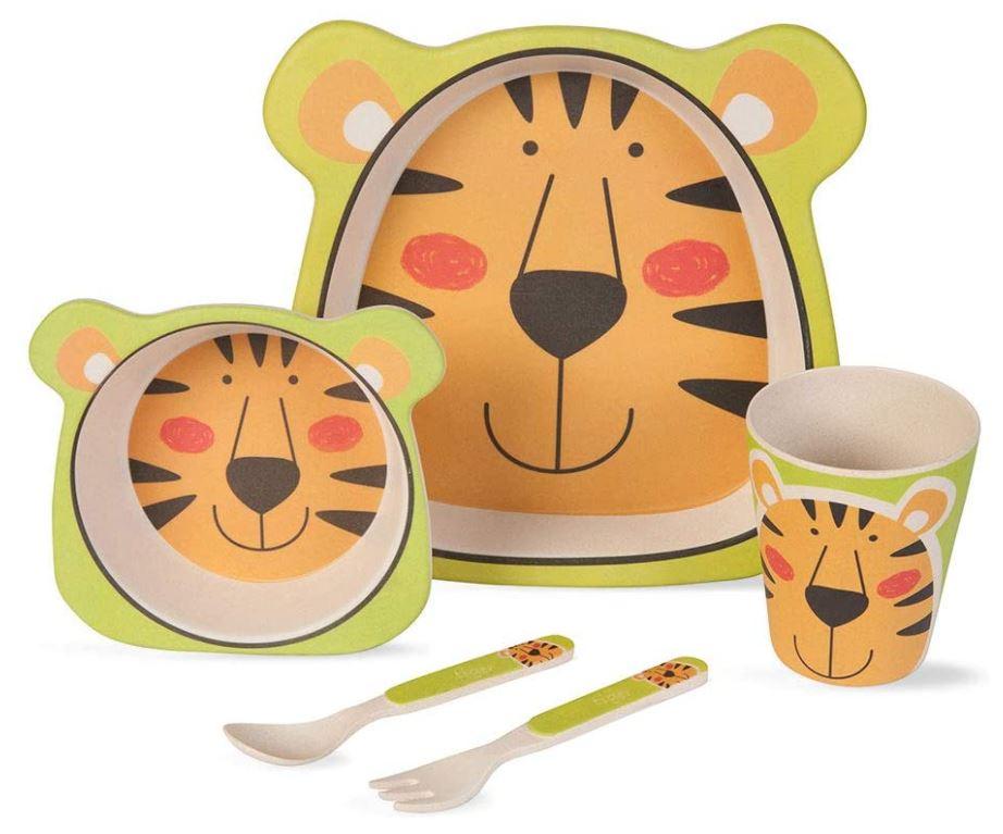 BIOZOYG Kinder Geschirr Set (5 tlg.) - Löwe