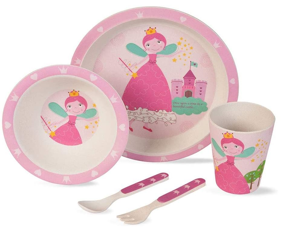 BIOZOYG Kinder Geschirr Set (5 tlg.) - Prinzessin