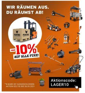 10% Rabatt auf das gesamte Sortiment bei Fuxtec!