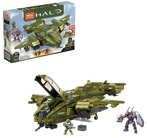 Mega Construx GNB28 - Halo Infinite 2-in-1 UNSC Pelican-Flugschiff (3 Figuren, 2024 Bausteine) für nur 109,99€ - statt 149€