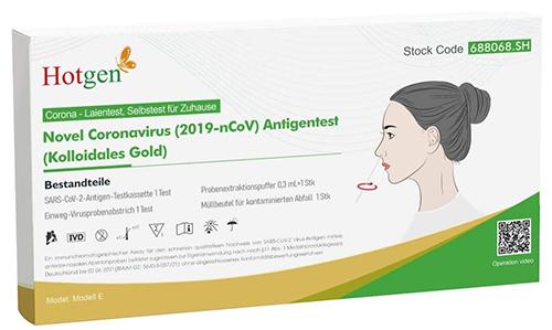 4er Pack Hotgen Novel Coronavirus (2019-nCoV) Antigen-Schnelltest für 2,88€