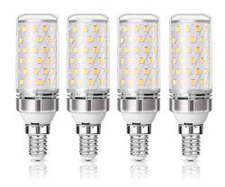 4er Pack KINGSO E14 LED Leuchtmittel mit 12W bzw. 1350 Lumen für 10,39€