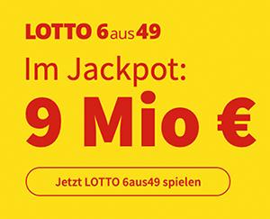 Heute 9 Mio. Lotto-Jackpot bei Lottohelden – jetzt 5 Felder 6aus49 für 1€ statt 6€ als Neukunde spielen