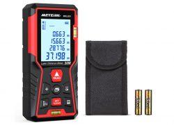 Meterk MKLE01 Laserentfernungsmesser bis 50m mit 2 Blasenebenen für 17,99€