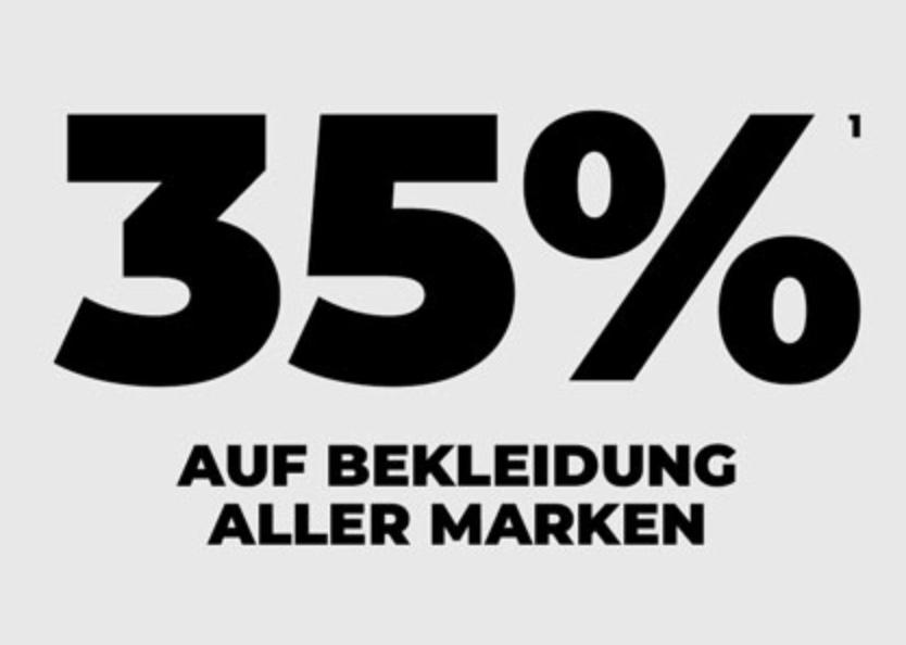 35% Rabatt auf Bekleidung aller Marken bei mysportswear