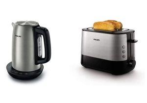 Bundle: Philips HD9359/90 Wasserkocher aus Edelstahl und Philips HD2637/91 Toaster für nur 50,99€ inkl. Versand