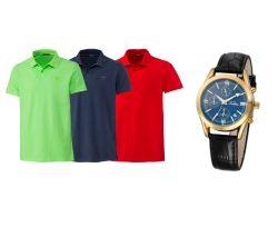 2 Stück Chiemsee Herren Polo-Shirts + Tardioma Herrenuhr 29,98€ inkl. Versand
