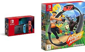 Nintendo Switch Konsole - Neon-Rot/Neon-Blau + Ring Fit Adventure Switch für 359,99€ (statt 394,98€)
