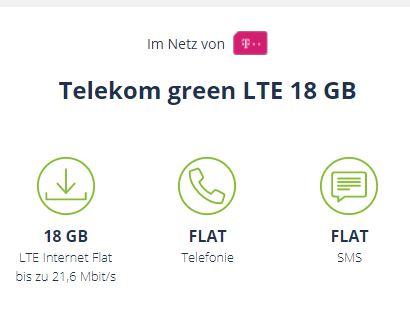 MD Telekom Green LTE 18 GB Tarif für nur 14,99 Euro pro Monat