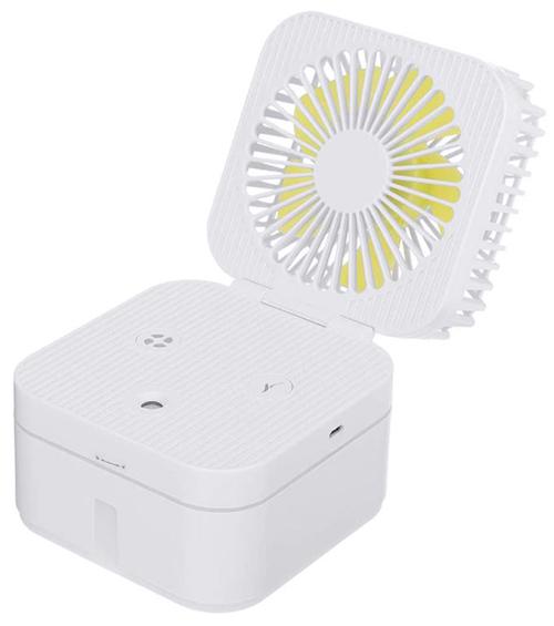 Baban wiederaufladbarer USB Tischventilator (3 Stufen, Luftbefeuchtung) für nur 5,49€