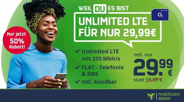 o2 Free Unlimited Max für nur 29,99€/Monat – monatlich kündbar + 4 Monate Deezer gratis!