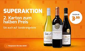 25% Extra-Rabatt beim Kauf von 2 Kisten bei Weinvorteil
