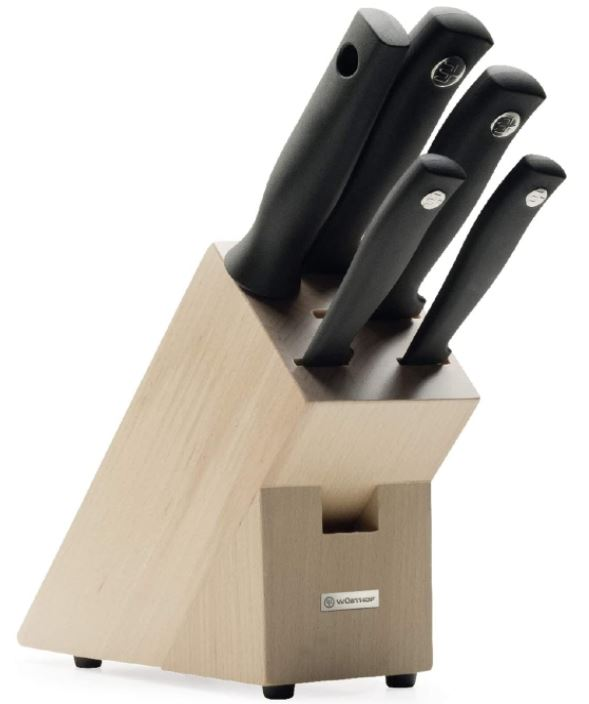 Wüsthof Messerblock 5-tlg Küchenmesser Set inkl. 4 Kochmesser und 1 Wetzstahl für nur 69,99€ (statt 96€)