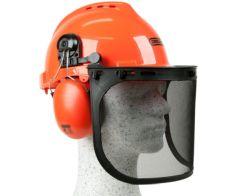Oregon Yukon Kettensägen-Sicherheitshelm mit Gehörschutz und Netzvisier für 19,99€