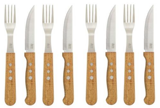 8tlg. Jamie Oliver BBQ Jumbo Edelstahl Steakbesteck für nur 17,77€ inkl. Versand
