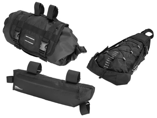 3er Set Fahrradtasche für den Lenker, Rahmen und Sattel, mit Klettverschlüssen für nur 28,95€ inkl. Versand