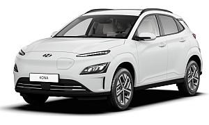 Privatleasing: Hyundai Kona Trend Elektro Sonderedition Edition 30PLUS (136 PS, Weiß) für 199€ mtl. – LF: 0,50