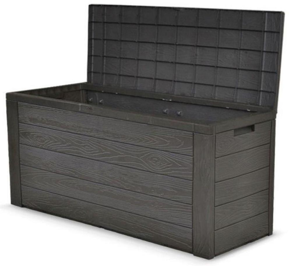 Gartentruhe Auflagenbox in Holzoptik für nur 34,99€ inkl. Versand