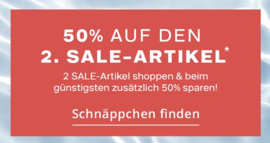 2 Paar reduzierte Schuhe bei Deichmann kaufen und 50% Rabatt auf das günstigere Paar erhalten!