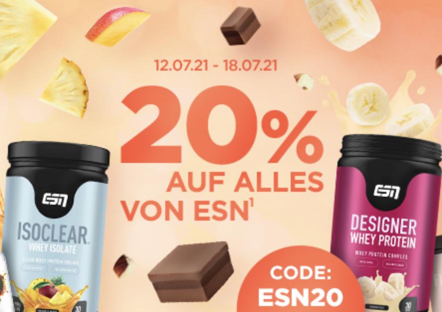 20% Rabatt auf Produkte von ESN im Fitmart Onlineshop!
