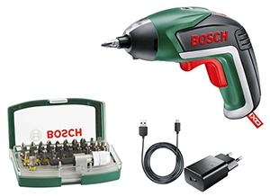 Bosch Home and Garden IXO V Akku-Schrauber (3.6V 1.5Ah Li-Ion) mit Akku und 32 tlg. Bit Set für nur 33€ inkl. Versand