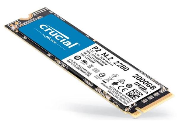 Crucial P2 SSD 2 TB M.2 2280 PCI Express 3.0 x4 (NVMe) für nur 174,99€ inkl. Versand