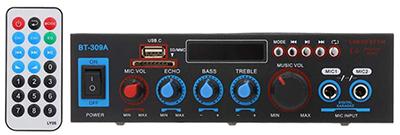 Docooler 12 V / 220 V Mini-Audio-Leistungsverstärker BT für nur 15,99€