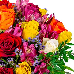 Blumenstrauß Farbtraum + gratis Vase für nur 22,98€ inkl. Versand