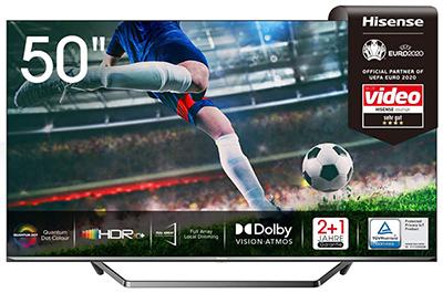 Hisense 50U7QF QLED 4K Smart TV (50 Zoll, HDR 10+, Dolby Vision & Atmos, Alexa Built-in) für nur 423,78€