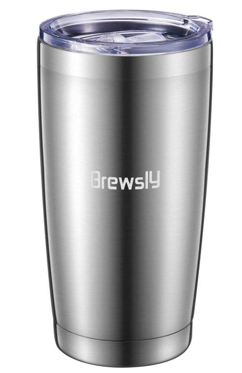Brewsly 900 ml Edelstahl Isolierbecher Silber