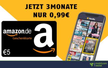 3 Monate Readly für nur 0,99€ – Magazin-Flatrate mit über 5.000 Zeitschriften + 5€ Amazon Gutschein