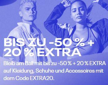 Herbst Sale bei Reebok mit bis zu 65% Rabatt + 20% Extrarabatt auf alle Sale-Artikel