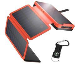 IEsafy 26800mAh Solar Powerbank mit 4 Solarpanels für 25,89€