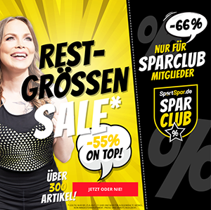 SportSpar Restgrößen-Sale mit bis zu 66% Extra-Rabatt auf hunderte Artikel