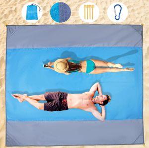 Wzlemom Stranddecke 210x200cm mit Ablageecken und Heringen für nur 8,49€