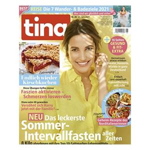 3 Monate (13 Ausgaben) tina für 27,30€ – als Prämie: 25€ Amazon-Gutschein