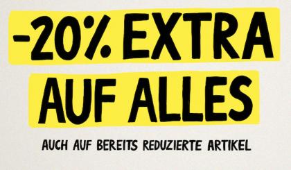 20% Extra-Rabatt auf den gesamten Einkauf bei ABOUT YOU