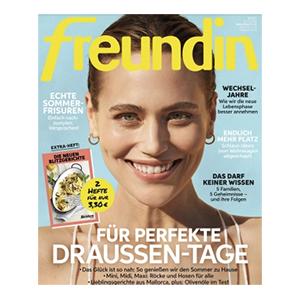 Jahresabo (24 Ausgaben) freundin für 86,40€ – als Prämie: 85€ Amazon-Gutschein