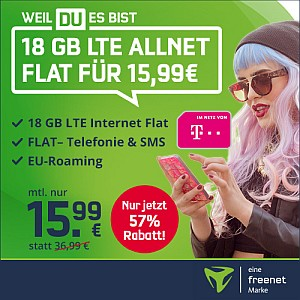 Top! MD Telekom Green LTE 18 GB Tarif für nur 15,99 Euro mtl.