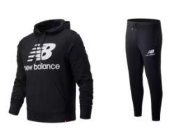 New Balance Trainingsanzug Essentials Stacked Logo in S bis XXL für 59,90€