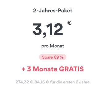 2-Jahresvertrag bei NordVPN für nur 3,12€ pro Monat + 3 weitere Monate gratis