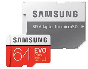 SAMSUNG EVO Plus Micro-SDXC Speicherkarte (64 GB) für nur 7,99€ (statt 11,24€)