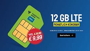 MD Green LTE Allnet Flat mit 12 GB Datenvolumen für nur 9,99€ pro Monat – monatlich kündbar
