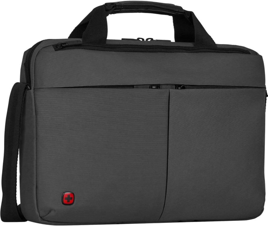 Wenger 601063 FORMAT 16″ Laptop Slimcase, gepolsterte Laptopfach mit iPad/Tablet / eReader Tasche in grau 6 Liter für nur 17,77€ inkl. Versand