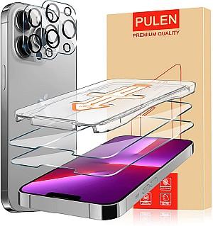 2x PULEN Panzerglas Schutzfolie mit Positionierhilfe für iPhone 13, 13 Pro und 13 Pro Max für 1,39€ (statt 13,99€)