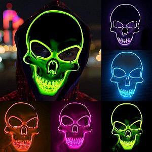 Shineslay Halloween LED Grusel Maske für 7,99€